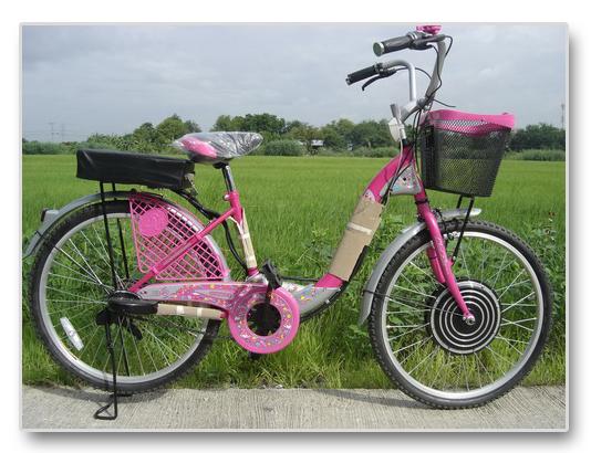 ตัวอย่างจักรยานไฟฟ้าที่ติดตั้งรุ่น HF363 แล้ว